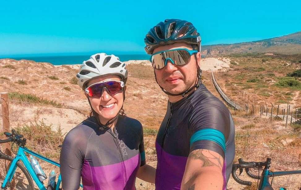 Bikers Rio pardo | Sua História | Casal brasileiro em Portugal pedala para superar pandemia e furto de equipamentos