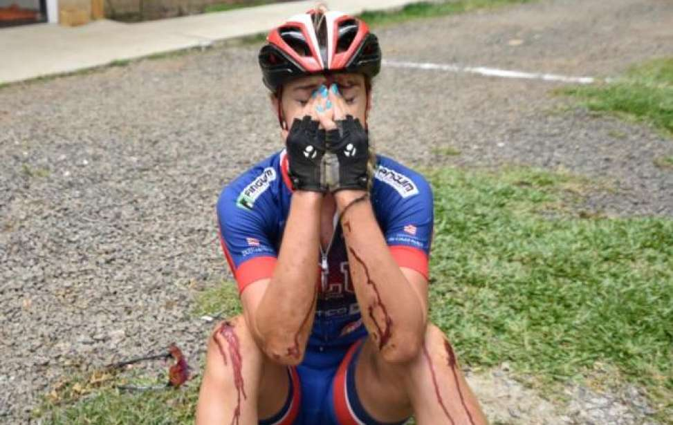 Bikers Rio pardo   Notícia   Atleta cai, pedala 15 km machucada e fica com a prata no ciclismo nos Jasc