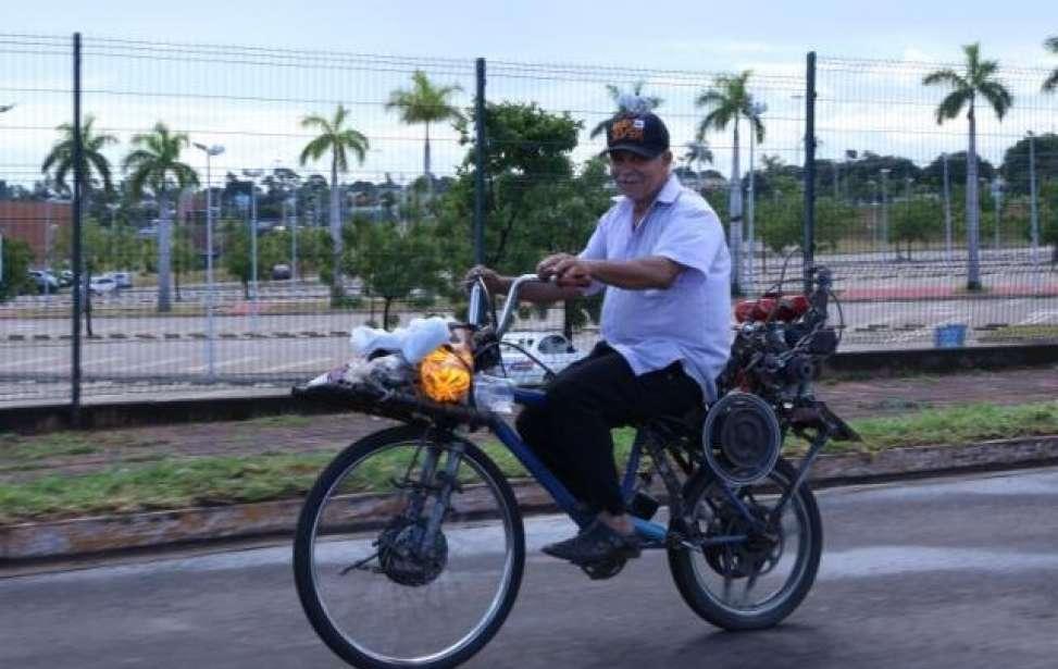 Bikers Rio Pardo | SUA HISTÓRIA | Anani constrói bicicleta com motor de garapa e viaja 1,4 mil km sem medo