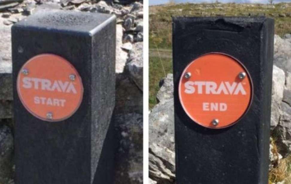 Bikers Rio pardo | Notícia | Placas indicando segmentos do Strava estão sendo instaladas na Irlanda