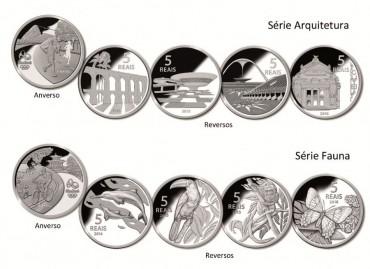 Banco Central lança moeda de 5 Reai...
