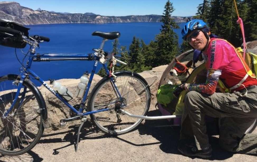 Bikers Rio Pardo | SUA HISTÓRIA | Ele cruzou os EUA pedalando com seu cão